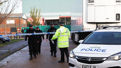 Three people are now in custody following the discovery of 39 bodies in a lorry container