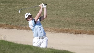 Paul Dunne in action at the Portugal Masters