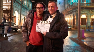 Cary Fukunaga and Daniel Craig, image via the official 007 Twitter account