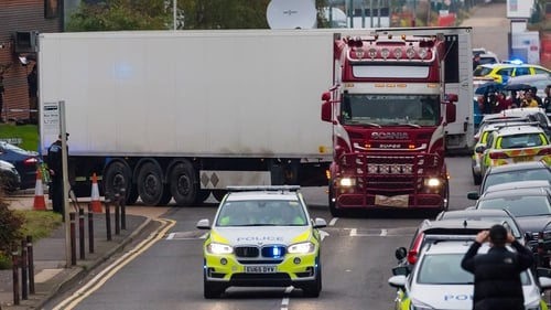 The 39 migrants were found dead in the back of a lorry in the UK on 23 October