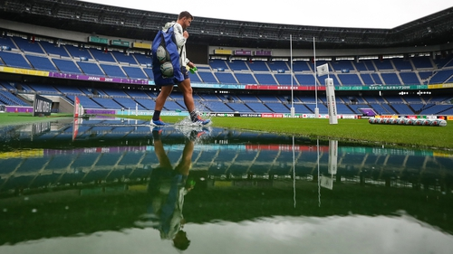 Handre Pollard and his South Africa team-mates got a taster of the conditions they could face when they trained at  International Stadium Yokohama on Friday