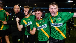 Thomas Davis players (from left) Sean Kennedy, David Keogh and Mark Nolan celebrate