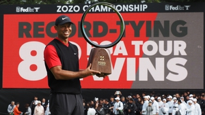 Tiger Woods described his win as big and he wasn't talking about the trophy
