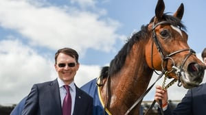 Magical with trainer Aidan O'Brien after winning the Tattersalls Gold Cup at the Curragh