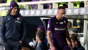 Franck Ribery (R) saw red against Lazio