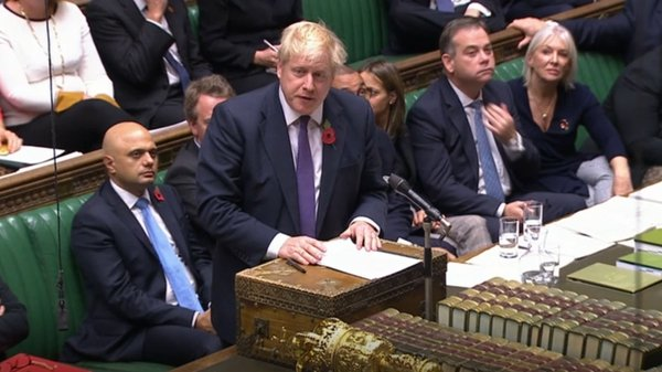 Boris Johnson said he will give notice of a short bill to secure a ballot on 12 December
