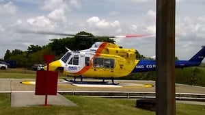 The two were airlifted to hospital