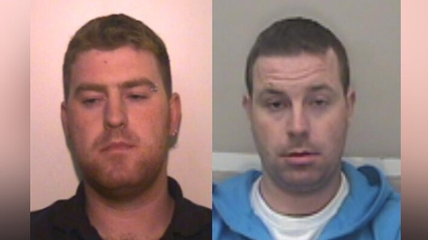 Ronan Hughes (left) and his brother Christopher Hughes are wanted by Essex Police on suspicion of manslaughter and human trafficking
