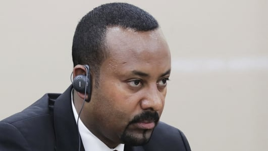 Ethiopian prime minister collects Nobel Prize