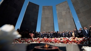 The genocide memorial draws hundreds of thousands on 24 April each year to mark the anniversary of the tragedy