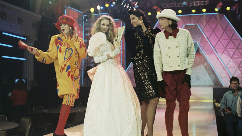 Models at 'The Late Late Show Fashion Awards' 1989 © RTÉ Archives 2162/081