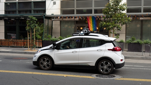 A driverless car being tested in San Francisco. (Photo by Smith Collection/Gado/Getty Images)