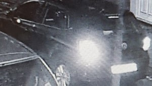 CCTV image issued by gardaí shows the car believed to have been involved in the collision