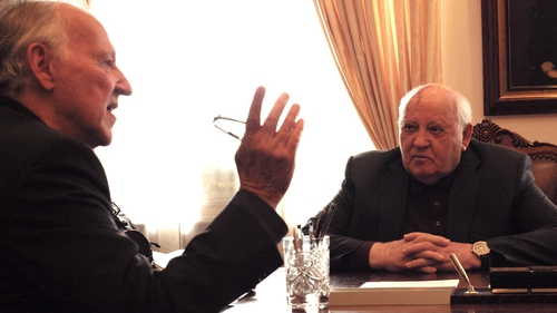 Head to Head: The great German film director Werner Herzog in one of the interviews for Meeting Gorbachev