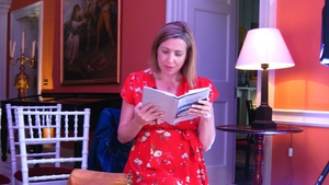 Poet Ailbhe Ni Ghearbhuigh reads at Doneraile Court