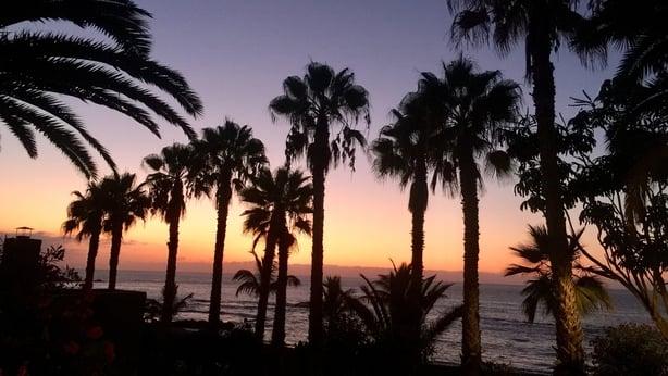 Sunset at Play Jardin, Purto de la Cruz