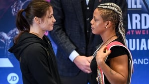 Katie Taylor and Christina Linardatou face off in Manchester