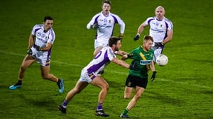 Adam Fallon of Thomas Davis looks for space in the semi-final win over Kilmacud Crokes