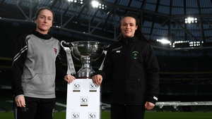 Wexford Youths captain Kylie Murphy and her Peamount United counterpart Aine O'Gorman