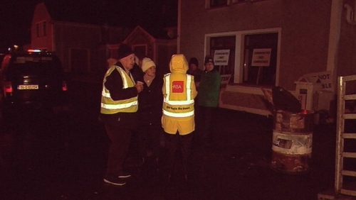 The protests continue outside the Achill Head Hotelin Co Mayo