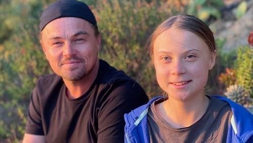 Leonardo DiCaprio and Greta Thunberg. Image: Instagram.