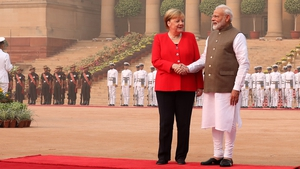 Angela Merkel said that Germany would spend €1bn on 'green' urban transport projects in India over the next five years