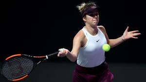 Elina Svitolina will defend her WTA Finals crown on Sunday