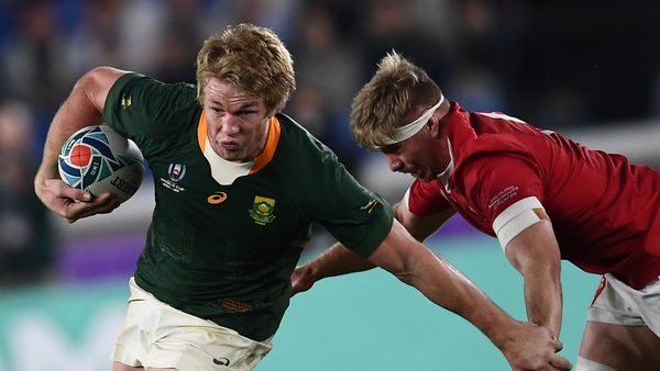 South African flanker Pieter-Steph Du Toit has succeeded Johnny Sexton as World Player of the Year