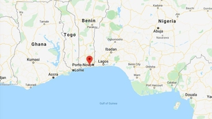 The remaining crew on the MV Bonita notified local authorities, and the vessel docked at the port city of Cotonou yesterday (Pic: Google Maps)