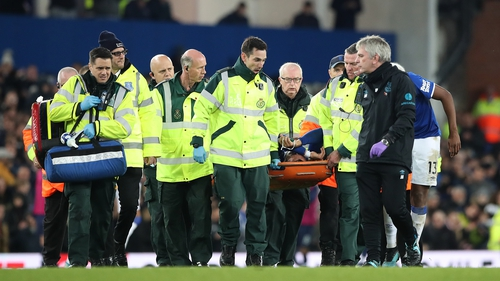 'After undergoing hospital tests, it was confirmed he had suffered a fracture dislocation to his right ankle', the club said in a statement
