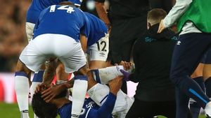 sustained a potentially season-ending injury after being clipped by Son Heung-min and falling heavily on his right leg
