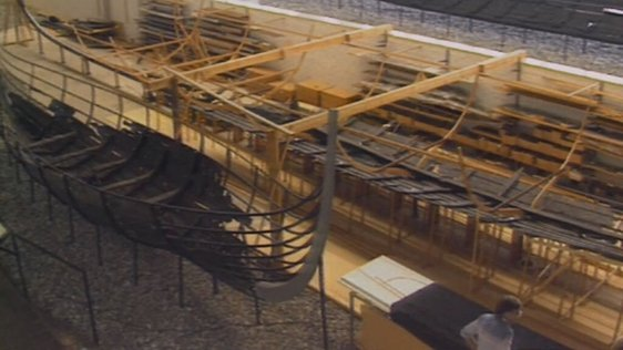Remains of an eleventh century Viking longship, Viking Ship Museum, Roskilde (1989)