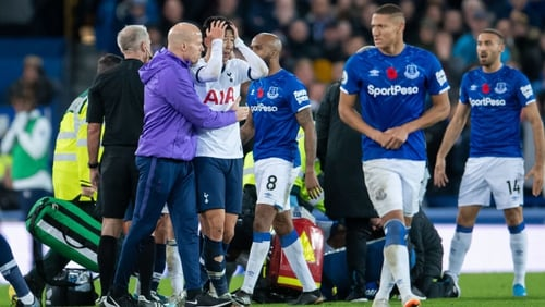 Son Heung-min was in tears following the incident involving Everton's Andre Gomes