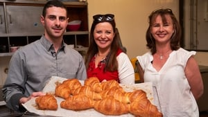 Guillaume with Catherine and Una at Lasserre bakery