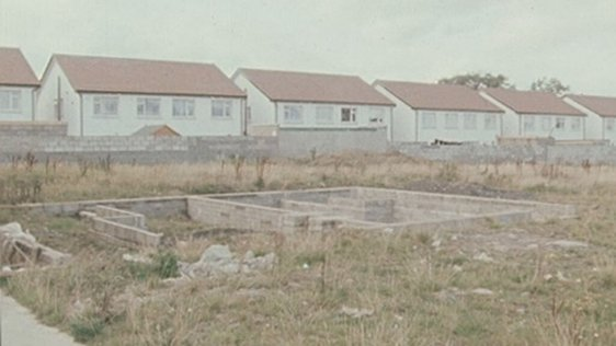Section of unfinished Lohunda housing estate, Clonsilla, County Dublin (1984)