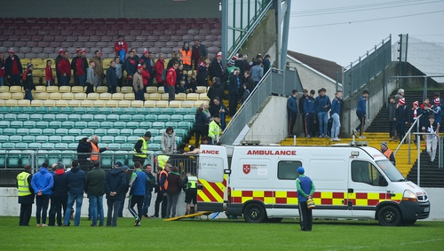 St Mullin's selector Michael Ryan required urgent medical assistance during the Leinster club SHC quarter-final against Cuala