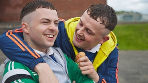 L-R Alex Murphy as Conor and Chris Walley as Jock in The Young Offenders