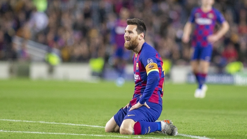 It was a frustrating night for Lionel Messi