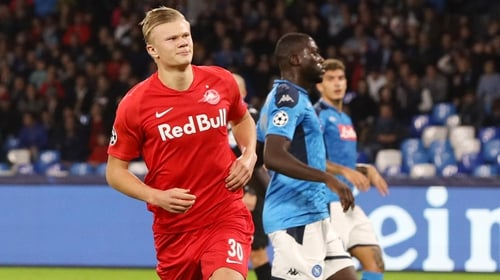 Erling Braut Haaland opened the scoring from the penalty spot