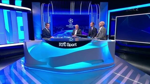 The RTÉ panel of Peter Collins, Liam Brady, David Meyler and Richie Sadlier