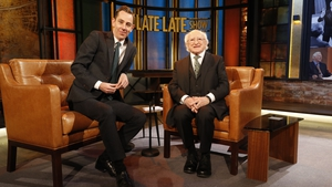 Ryan Tubridy with President Michael D Higgins