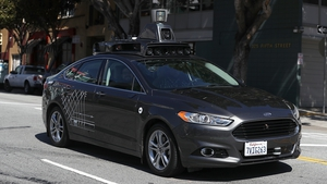 An Uber self-driving car seen in San Francisco - the programme resumed several months after the Arizona incident