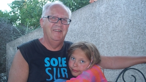 Ana Kriégel alongside her father Patric in Beaucaire, France in 2012