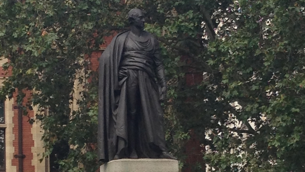 There is a statue of Britain's shortest-serving PM, George Canning, in Parliament Square