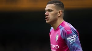 Ederson departed at half-time as a precautionary measure
