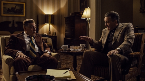 Al Pacino and Robert De Niro in The Irishman