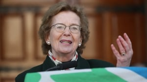 Mary Robinson was speaking after receiving the Tipperary International Peace Award