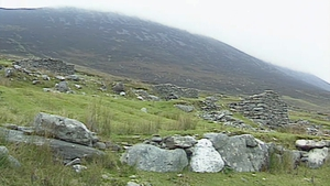 Ghost Village of Slievemore on Achill Island