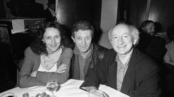 1993: Actors Fiona Shaw and Donal McCann, with then Minister for Arts, Culture, and the Gaeltacht (and later Irish President) Michael D Higgins at the Oscars Party in the IFC (now IFI), Dublin