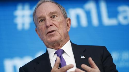 Michael Bloomberg, 77, was mayor of New York City